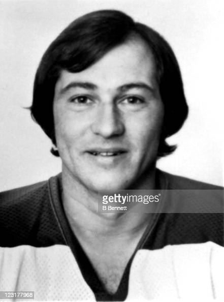 Bob Guindon of the Winnipeg Jets poses for a portrait in September 1976 in Winnipeg Manitoba Canada