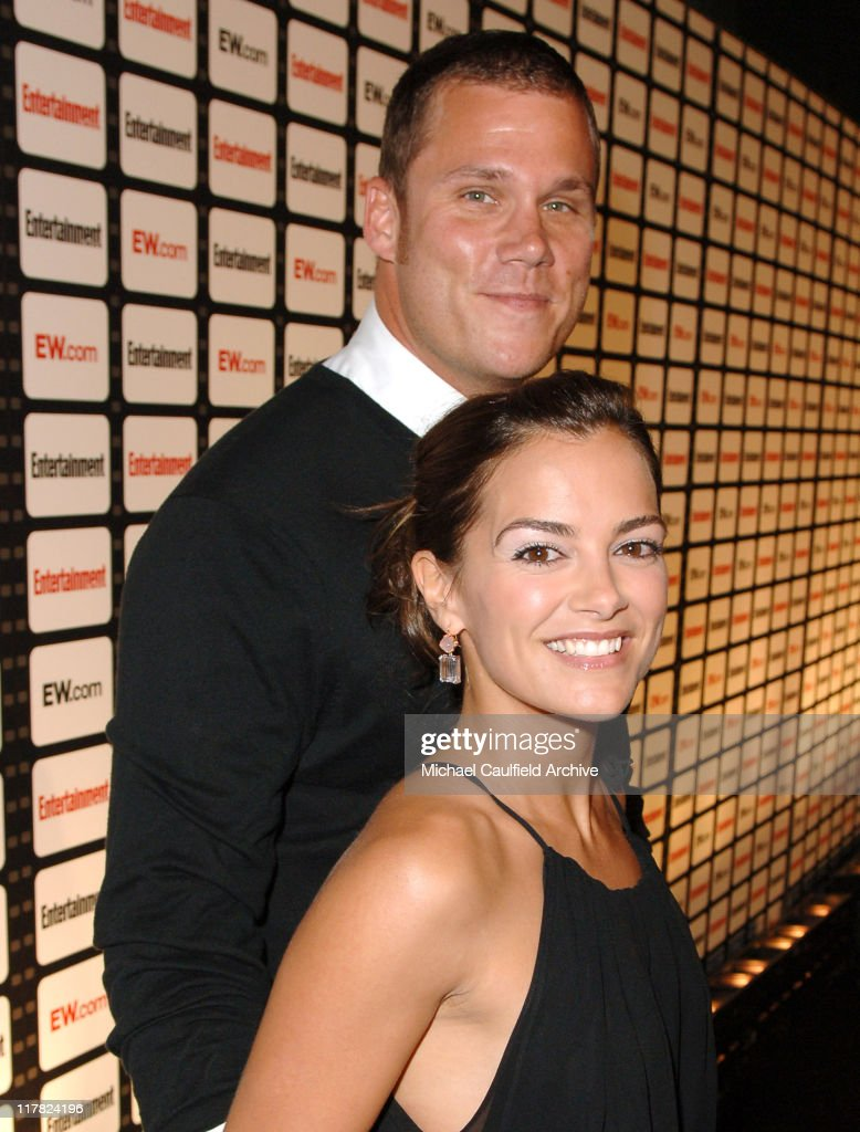 Bob Guiney and Rebecca Budig during Entertainment Weekly Magazine Celebrates The 2006 Photo Issue at Quixote Studio in Hollywood California United...