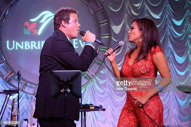 Bob Guiney and Robin Meade perform at the 2014 Unbridled Eve Derby Gala during the 140th Kentucky Derby at Galt House Hotel Suites on May 2 2014 in...