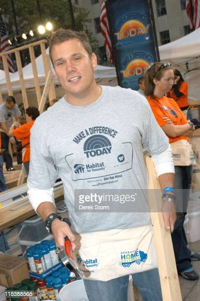Bob Guiney during Celebrities Volunteer on the 'Today' Show for 'Make A Difference Today' for Habitat for Humanity September 26 2005 at Rockefeller...