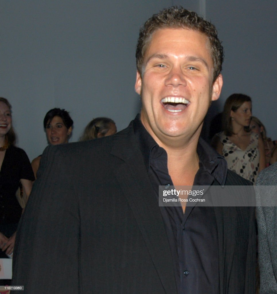 Bob Guiney during Olympus Fashion Week Spring 2005 - Nanette Lepore - Front Row and Backstage at Plaza Tent, Bryant Park in New York City, New York, United States.