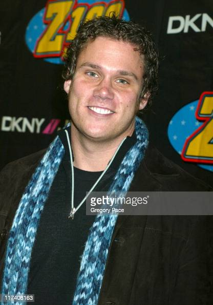 Bob Guiney of ABC's ''The Bachelor' during Z100's Jingle Ball 2003 Press Room at Madison Square Garden in New York City New York United States