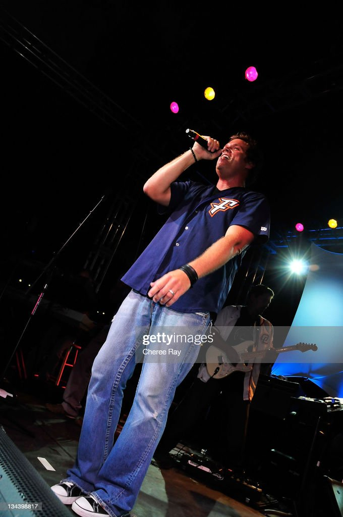 Bob Guiney performs at the 2nd Annual Band From TV Night at the Flyers Baseball Game on July 26 2008 in Fullerton California