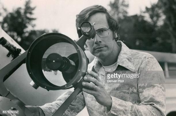 Bob Gunnerson Peers through his Clestron 8 telescope Credit Denver Post