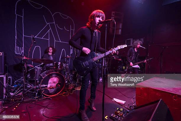 Bob Hall and Ryan McCann and Benj Blakeway of Catfish and the Bottlemen perform at The Sugarmill on December 5 2014 in StokeonTrent England
