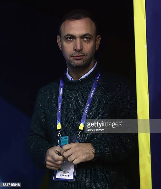 Bob Hanning Vice President of the German Handball Federation DHB looks on prior to the 25th IHF Men's World Championship 2017 match between Chile and...