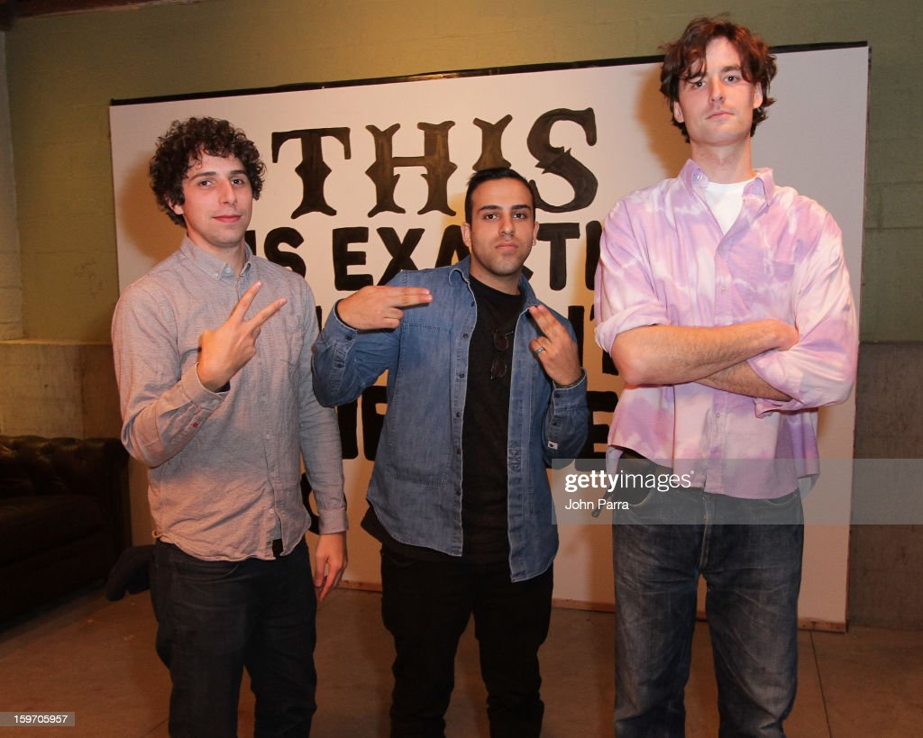 Bob Harlow, Abteen Bagheri and Tyrone Lebon attend the Nokia Music, SPIN, Sundance Channel and SomeSuch & Co Present New American Noise on January 18, 2013 in Park City, Utah.