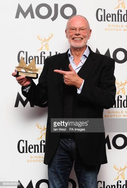 Bob Harris wins the Mojo Medal Award at the Mojo Awards at the Brewery in London