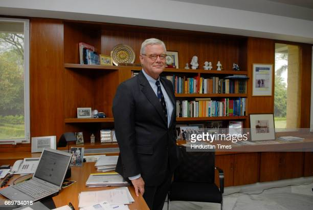 Bob Hiensch Netherlands Ambassador to India photographed at the Embassy in New Delhi