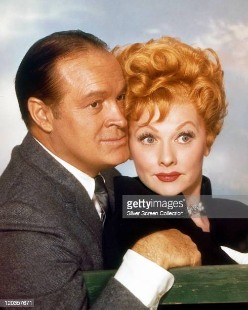 Bob Hope Britishborn US actor and comedian with Lucille Ball US actress and comedian in a publicity portrait issued for the film 'The Facts of Life'...