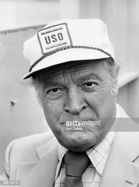 Bob Hope during The USO honors Bob Hope at Aboard the Iwo Jima in New York City NY United States