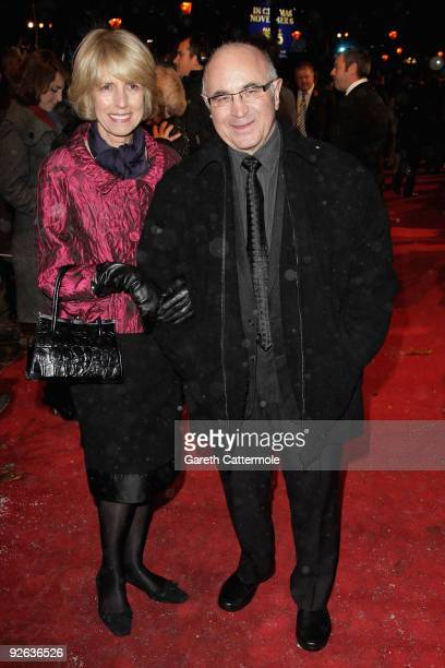 Bob Hoskins and guest arrive for the World Film Premiere of Disney's 'A Christmas Carol' at the Odeon Leicester Square on November 3 2009 in London...