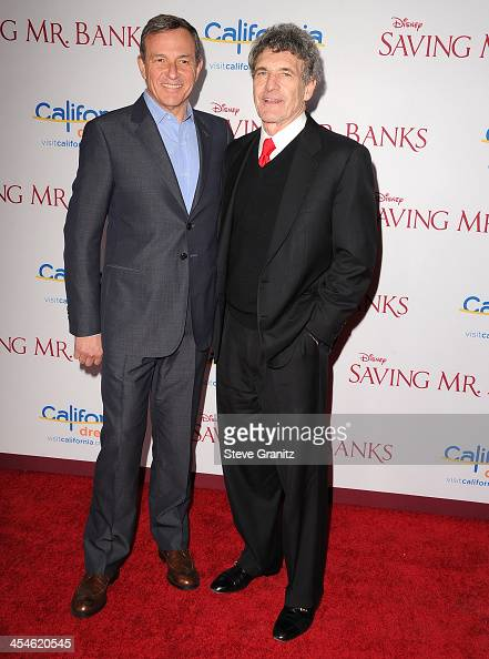Bob Iger and Alan Horn arrives at the 'Saving Mr Banks' Los Angeles Premiere at Walt Disney Studios on December 9 2013 in Burbank California