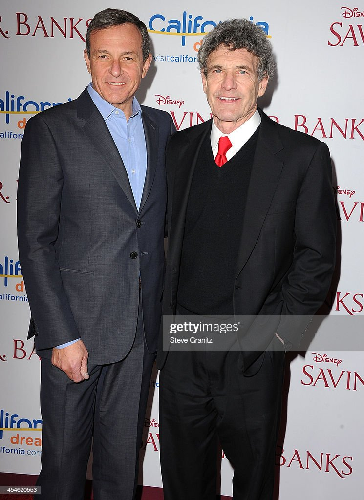 Bob Iger and Alan Horn arrives at the 'Saving Mr. Banks' - Los Angeles Premiere at Walt Disney Studios on December 9, 2013 in Burbank, California.