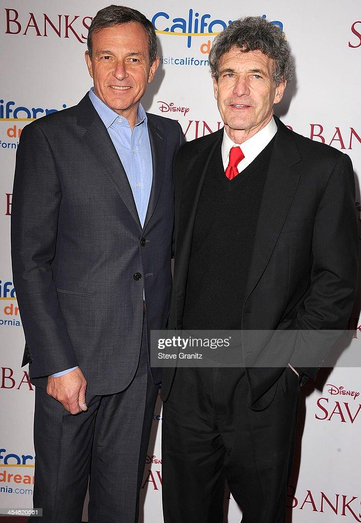 Bob Iger and Alan Horn arrives at the 'Saving Mr. Banks' - Los Angeles Premiere at Walt Disney Studios on December 9, 2013 in Burbank, California.