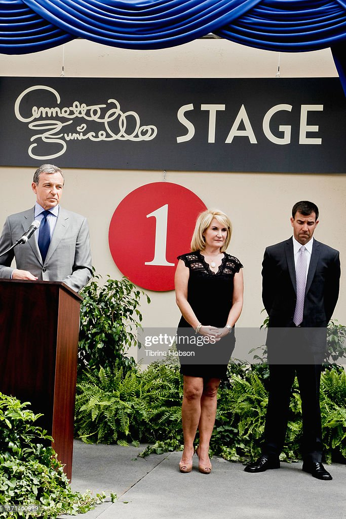 <a gi-track='captionPersonalityLinkClicked' href=/galleries/search?phrase=Bob+Iger&family=editorial&specificpeople=171211 ng-click='$event.stopPropagation()'>Bob Iger</a> and Annette Funicello's children attend the stage one rededication ceremony hosted by Walt Disney Company CEO <a gi-track='captionPersonalityLinkClicked' href=/galleries/search?phrase=Bob+Iger&family=editorial&specificpeople=171211 ng-click='$event.stopPropagation()'>Bob Iger</a> honoring 'America's Sweetheart' Annette Funicello at Walt Disney Studios on June 24, 2013 in Burbank, California.