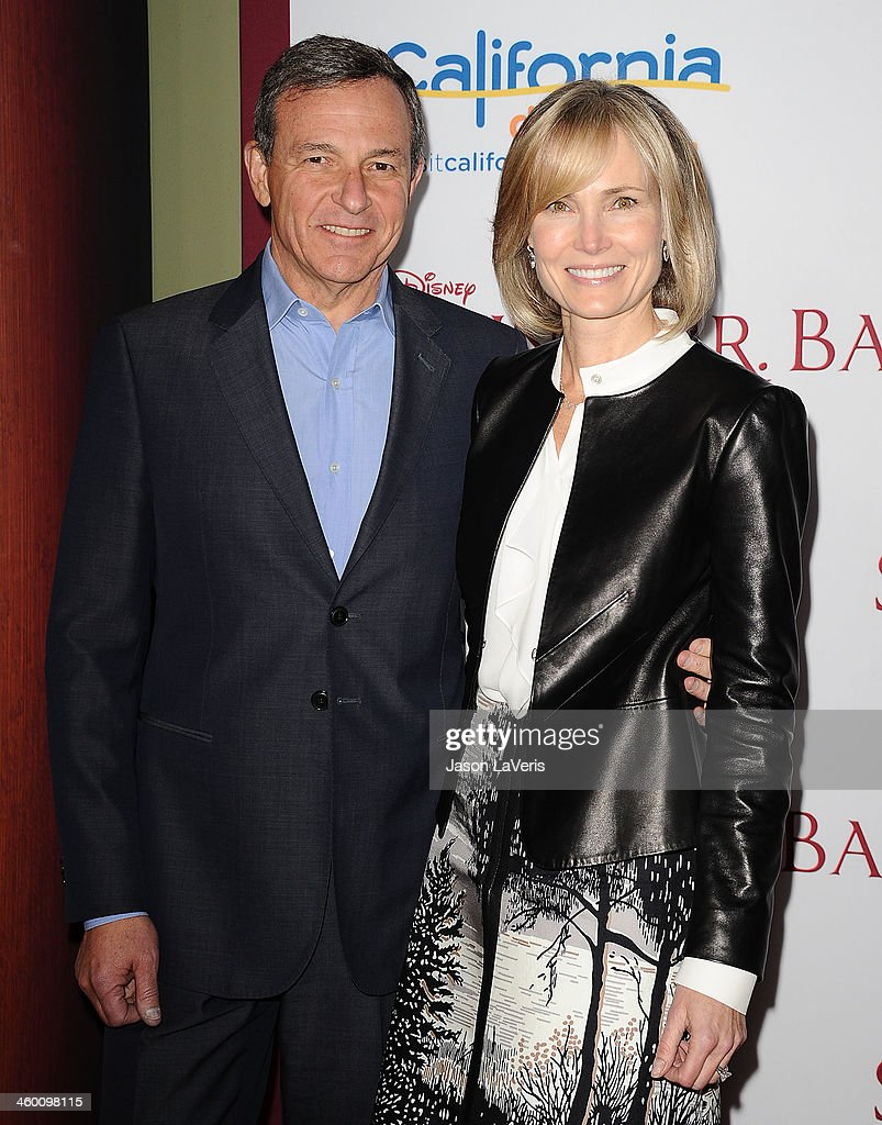 Bob Iger and Willow Bay attend the premiere of 'Saving Mr Banks' at Walt Disney Studios on December 9 2013 in Burbank California
