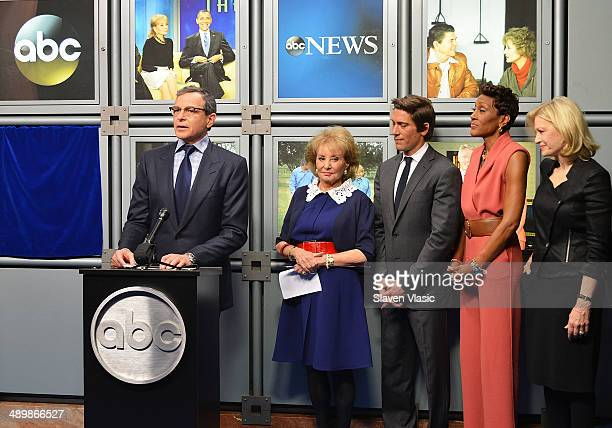 Bob Iger chairman and CEO of The Walt Disney Company Barbara Walters ABC News anchor David Muir ABC 'Good Morning America' anchor Robin Roberts and...