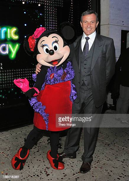 Bob Iger chairman and chief executive officer of Walt Disney Co attends Unveiling Moment At Barneys New York Disney Electric Holiday Spectacular With...