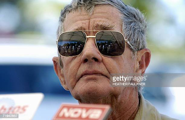 Bob Irwin father of Steve Irwin speaks to media after a public memorial for the late Crocodile Hunter which was held at the Australia Zoo in Beerwah...