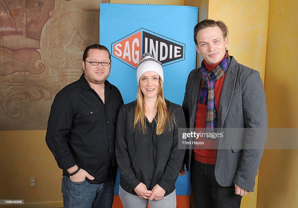 Bob Jensen, Molly Thompson and Mark Friedlander attend the SAGIndie Brunch at Cafe Terigo on January 21, 2013 in Park City, Utah.
