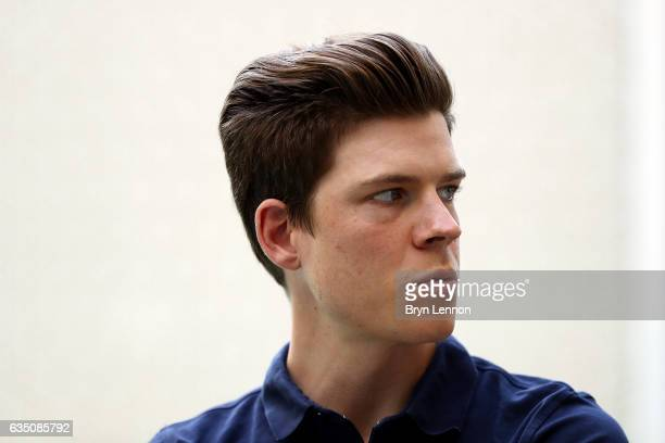 Bob Jungels of Luxembourg and QuickStep Floors looks on ahead of the 2017 Tour of Oman on February 13 2017 in Muscat Oman