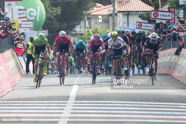Bob Jungels pink jersey Leader completes the sixth stage of the Giro d'Italia Tour of Italy cycling race from Reggio Calabria to Terme Luigiane...