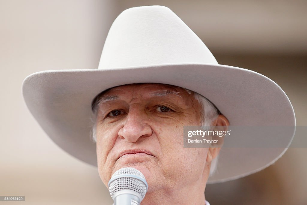 <a gi-track='captionPersonalityLinkClicked' href=/galleries/search?phrase=Bob+Katter&family=editorial&specificpeople=7152597 ng-click='$event.stopPropagation()'>Bob Katter</a> MP speaks on the steps of Parliament House on May 25, 2016 in Melbourne, Australia. The Federal Government is expected to announce an assistance package for dairy farmers, who have been struggling due to falling milk prices in recent months.