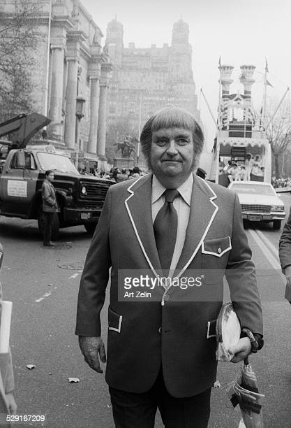 Bob Keeshan Captain Kangaroo in jacket with white piping Float in the background circa 1980 New York