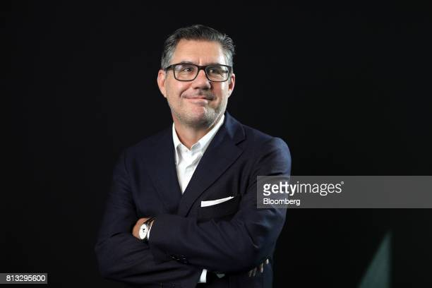 Bob KunzeConcewitz chief executive officer of Davide CampariMilano SpA poses for a photograph following a Bloomberg Television interview in London UK...