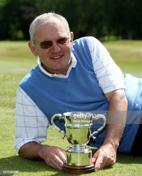 Bob Larratt of Kibworth with the winners trophy after the final round of the Senior PGA Professional Championship at Northamptonshire County Golf...