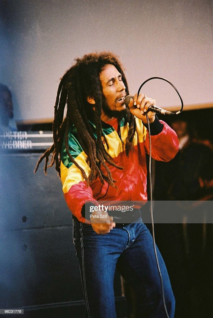 <a gi-track='captionPersonalityLinkClicked' href=/galleries/search?phrase=Bob+Marley&family=editorial&specificpeople=240470 ng-click='$event.stopPropagation()'>Bob Marley</a> performs on stage at Crystal Palace Bowl on June 7th, 1980 in London, United Kingdom.