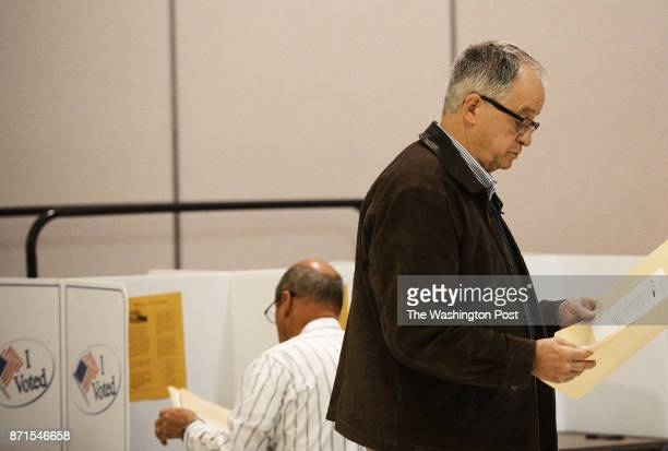 Bob Marshall GOP incumbent who runs for his seat in the Virginia House of Delegates votes at Signal Hill Elementary School in Manassas VA on election...