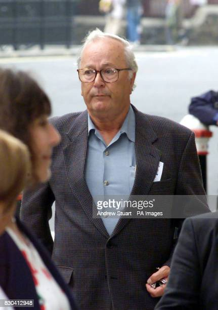Bob Moore whose son Nick was killed by David Copeland's nail bomb arrives at the Old Bailey in London where the jury is spending their second day...