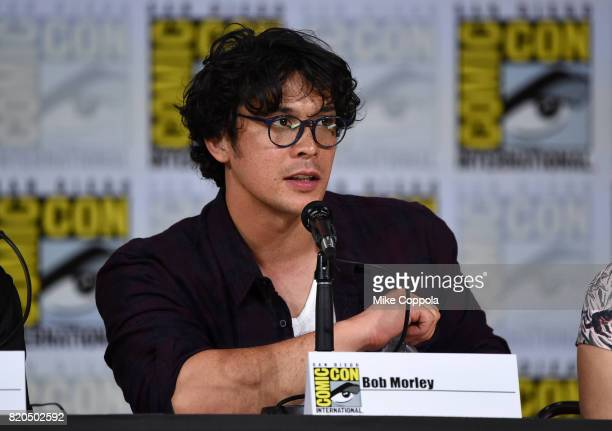 Bob Morley speaks onstage at ComicCon International 2017 'The 100' panel at San Diego Convention Center on July 21 2017 in San Diego California
