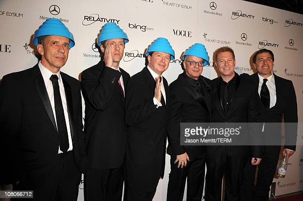 Bob Mothersbaugh Josh Freese Gerald Casale Mark Allen Mothersbaugh of Devo Founder of Relativity Media Ryan Kavanaugh and Director David O Russell...