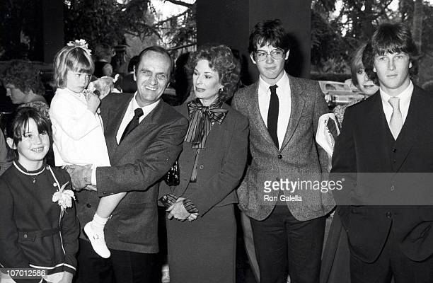 Bob Newhart Ginny Newhart and family during Bob Newhart with Family at Easter Sunday Brunch April 11 1982 at Beverly Hill Hotel in Beverly Hills...