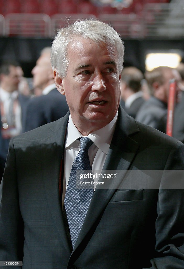 Bob Nicholson, Vice Chairman of Oiler Entertainment Group, looks on prior to the start of the first round of the 2014 NHL Draft at the Wells Fargo Center on June 27, 2014 in Philadelphia, Pennsylvania.