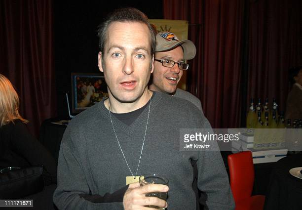 Bob Odenkirk and David Cross during Comedy Central's First Annual 'Commies' Awards Backstage at Sony Studios in Culver City California United States