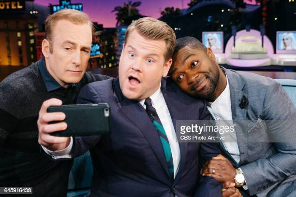 Bob Odenkirk and David Oyelowo chat with James Corden during 'The Late Late Show with James Corden' Wednesday February 22 2017 On The CBS Television...