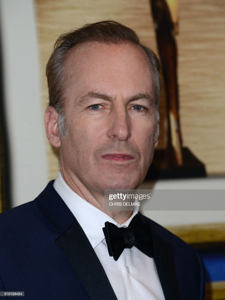 Bob Odenkirk poses in the press room at the Writers Guild Awards, in Century City, California, February 13, 2016 / AFP / CHRIS DELMAS