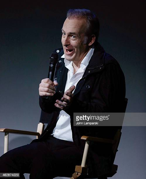 Bob Odenkirk speaks at the The Apple Store Soho Presents Meet the Cast 'Better Call Saul' at Apple Store Soho on February 6 2015 in New York City