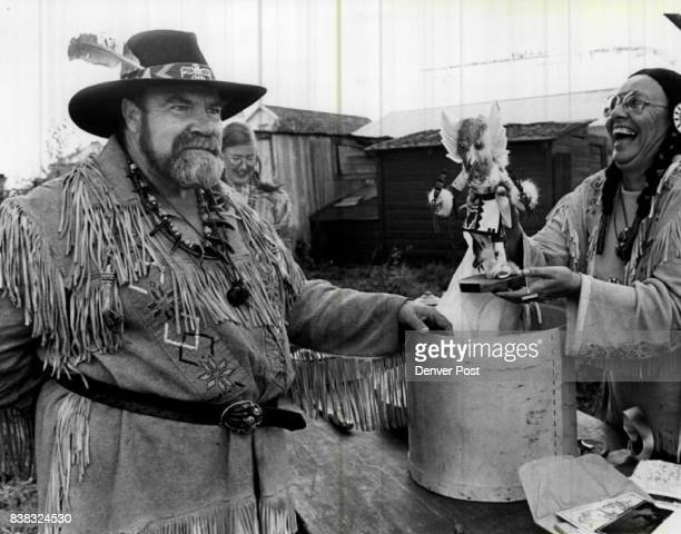Bob 'Pappa Bear' whitemore glares at a guest who suggested he resembles the Kachina doll his wife Mary 'Mama Bear' received as an anniversary present...