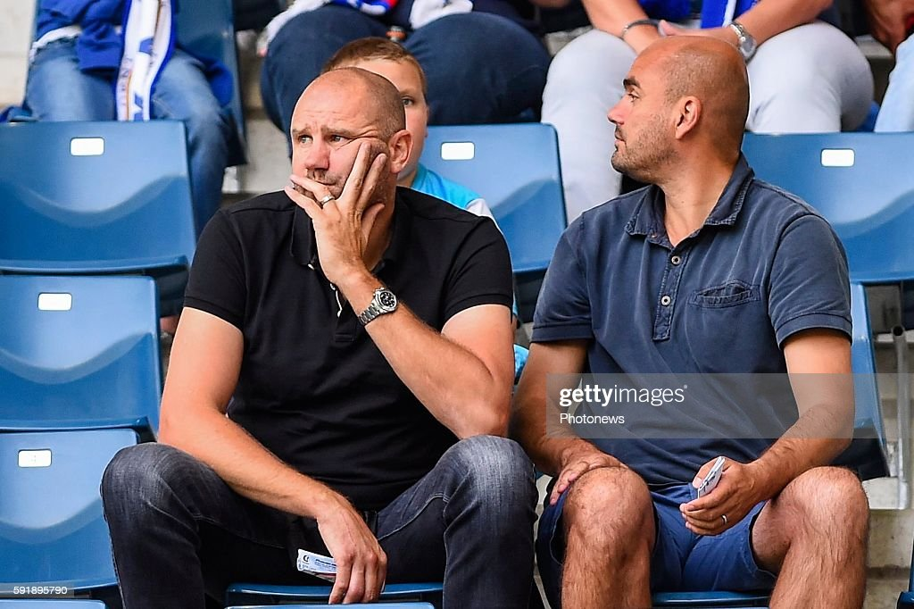 Bob Peeters as a spectator during the Uefa Europa League match between KAA Gent and KF Shkendija In the Ghelamco Arena Gent Belgium via Getty Images