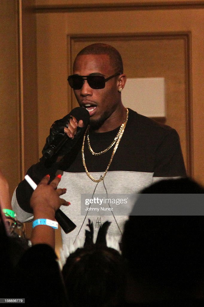 B.o.B. performs at the BET '106 & Party' New Years Eve celebration at BET Studios on December 31, 2012, in New York City.