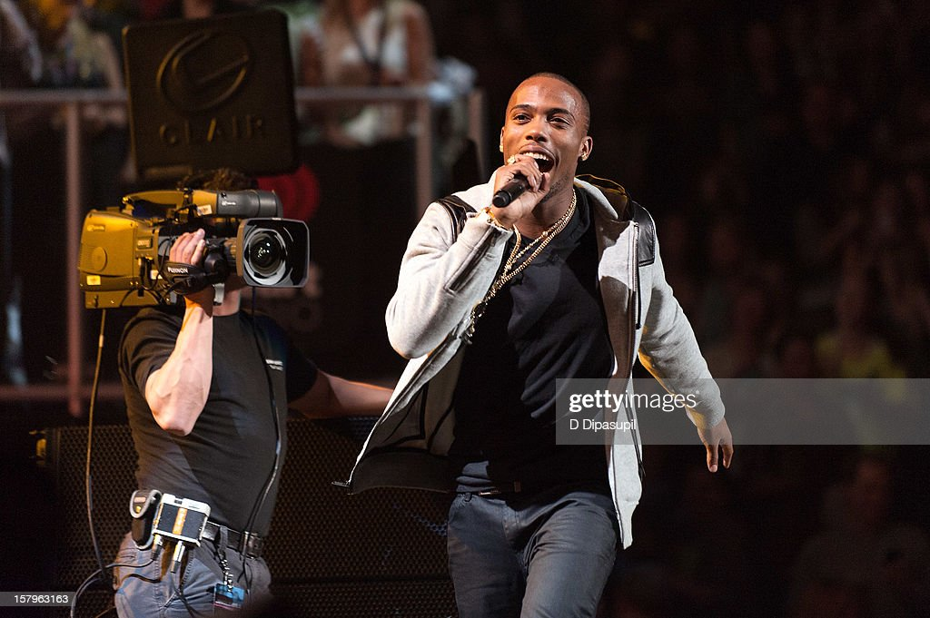 B.o.B performs during Z100's Jingle Ball 2012 presented by Aeropostale at Madison Square Garden on December 7, 2012 in New York City.