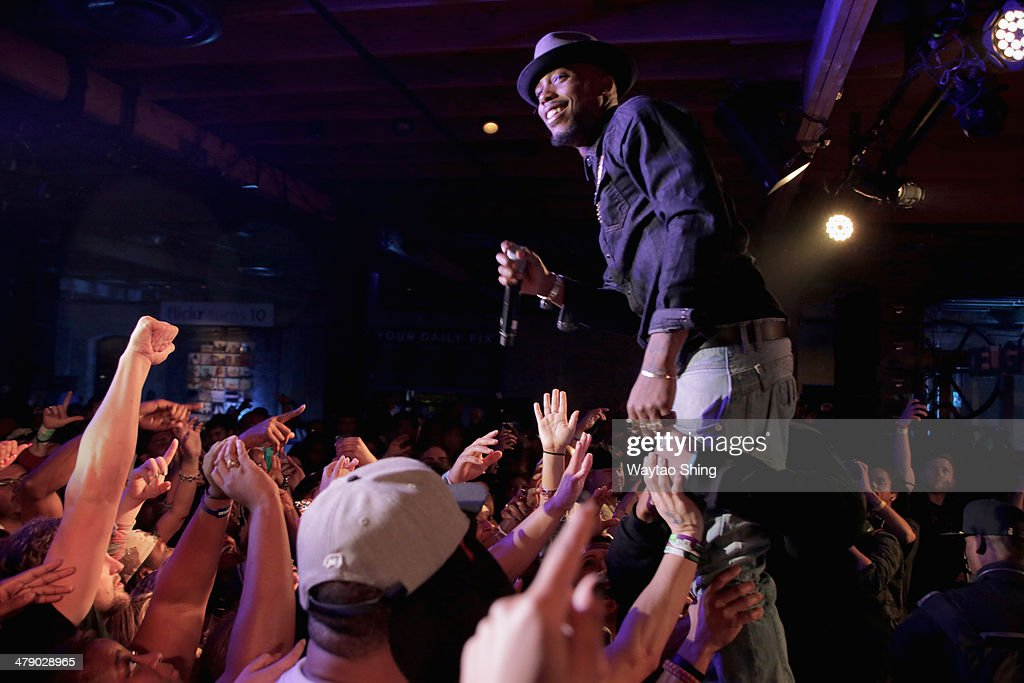 BoB performs onstage at Beer N Tacos during the 2014 SXSW Music Film Interactive Festival at Brazos Hall on March 15 2014 in Austin Texas