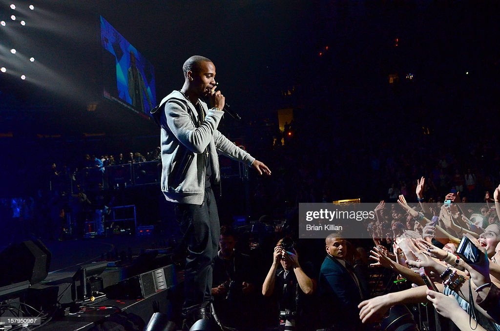 B.o.B. performs onstage during Z100's Jingle Ball 2012 presented by Aeropostale at Madison Square Garden on December 7, 2012 in New York City.