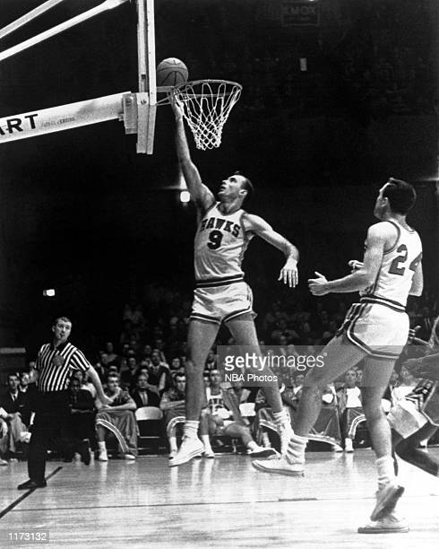 Bob Pettit of the St Louis Hawks goes up for a layup during the NBA game at St Louis Missouri NOTE TO USER User expressly acknowledges and agrees...