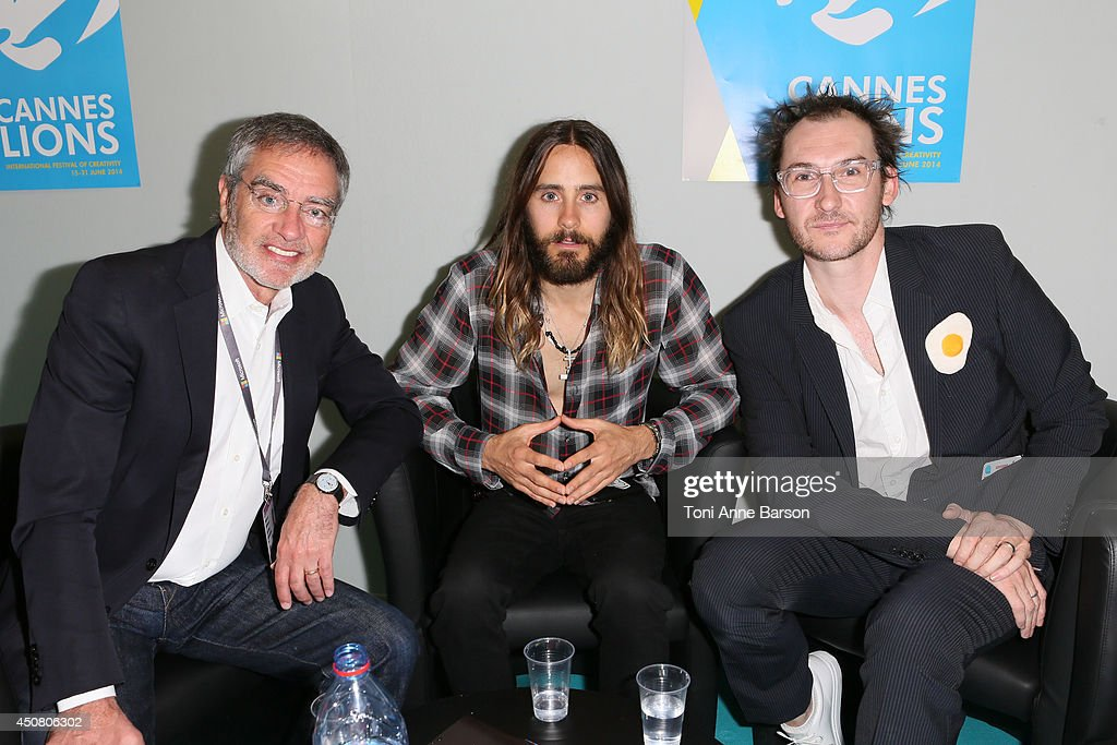 Bob Pittman, Jared Leto and Benjamin Palmer attend A Conversation With Benjamin Palmer during Cannes Lions Festival at the Palais des Festivals on June 18, 2014 in Cannes, France.